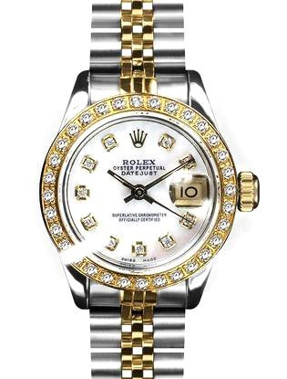 Rolex Ladies 2Tone 14K Gold/ Stainless Steel, Diamond