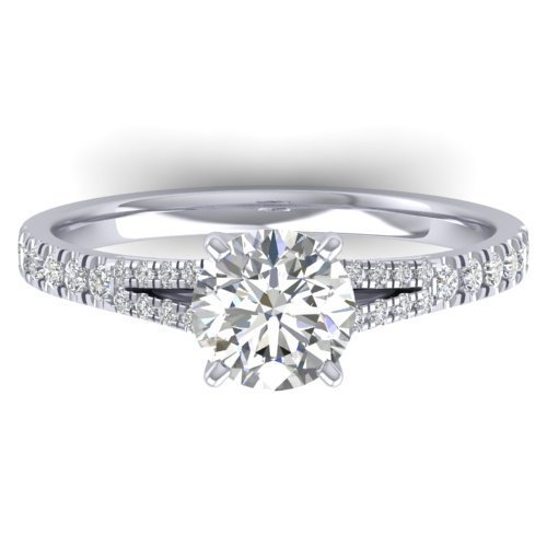 Genuine 1.36 CTW Certified Diamond Solitaire Engagement