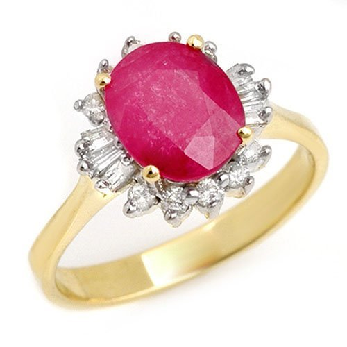 2.02 ctw Ruby & Diamond Ring 14K Yellow Gold -
