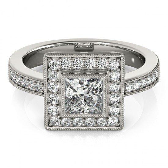 1.11 CTW Certified Princess Diamond Bridal Solitaire