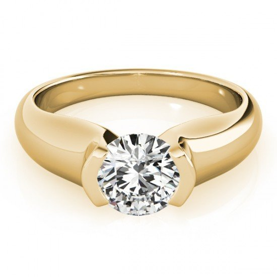 1.0 CTW Certified Diamond Solitaire Bridal Ring 18K