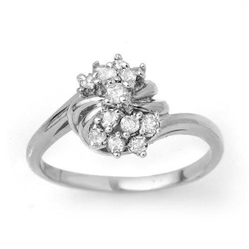 0.25 ctw Diamond Ring 18K White Gold - 13774-#30W8K