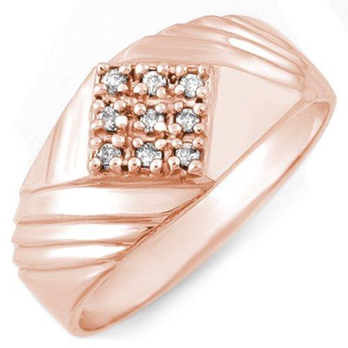 0.15 ctw Diamond Men's Ring 14K Rose Gold -