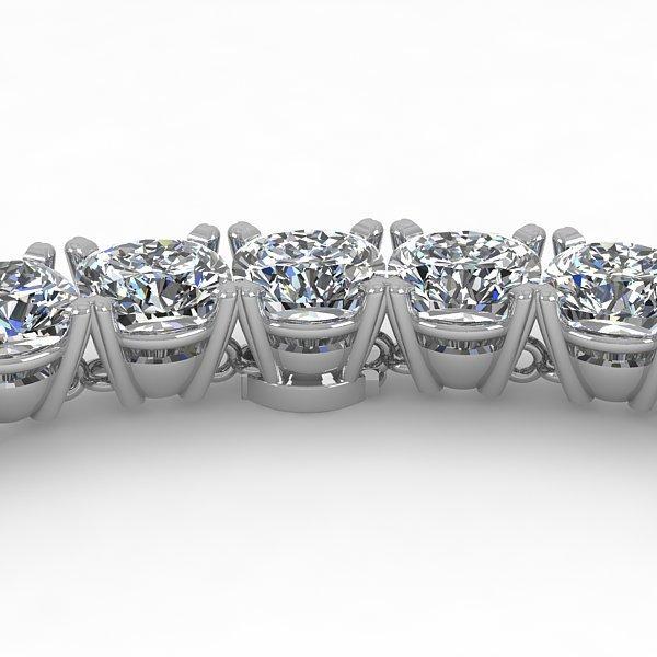 35 CTW Eternity Cushion Cut Certified Diamond 18K