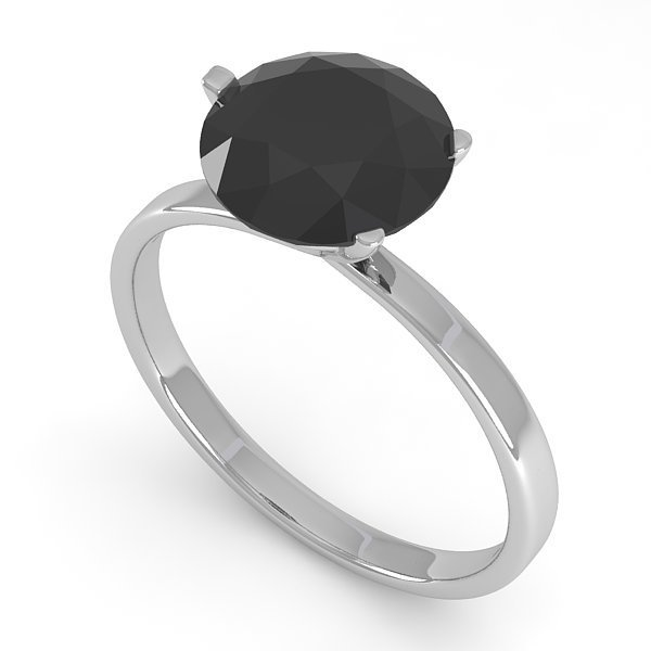 2.0 CTW Black Certified Diamond Bridal Solitaire