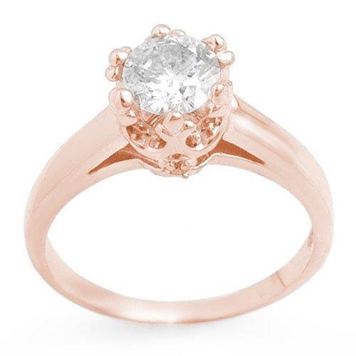 1.0 ctw Diamond Bridal Engagement Ring 14K Rose Gold -
