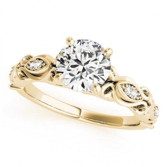 0.60 CTW Certified Diamond Solitaire Bridal Antique