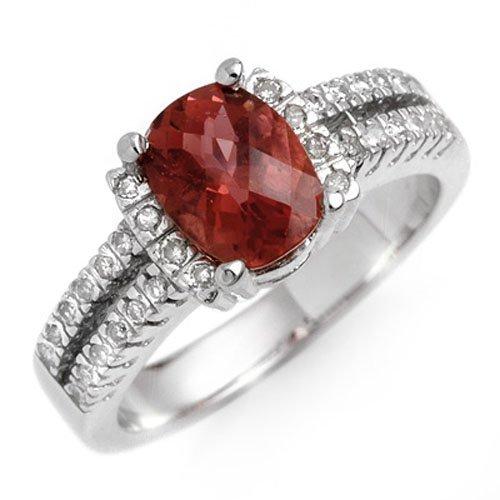 1.75 ctw Pink Tourmaline & Diamond Ring 10K White Gold