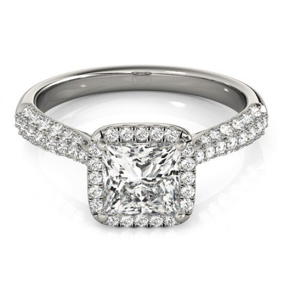 1.15 CTW Certified Princess Diamond Bridal Solitaire