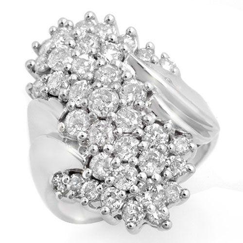 2.50 ctw Diamond Ring 18K White Gold - 14442-#218F5M