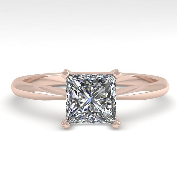 1 CTW Princess Cut Certified VS/SI Diamond Engagment