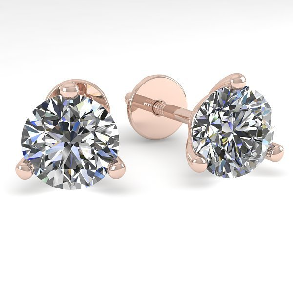 1.0 CTW Certified VS/SI Diamond Stud Earring Martini