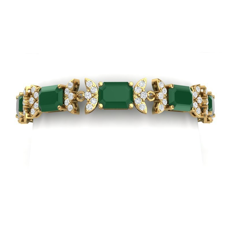 38.13 CTW Royalty Emerald & VS Diamond Bracelet 18K