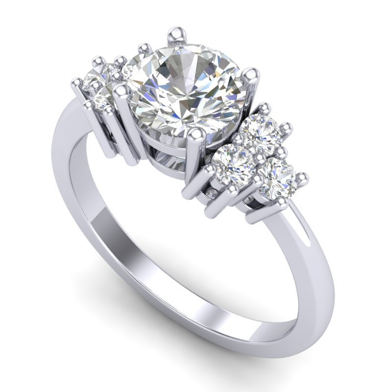 1.5 CTW VS/SI Diamond Bridal Solitaire Ring 18K Gold -