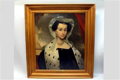 Ezra Ames (Am. 1768-1836) Portrait Of A Woman
