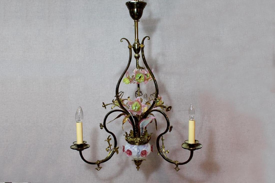 Electrified 19th Century Hanging Gas Light