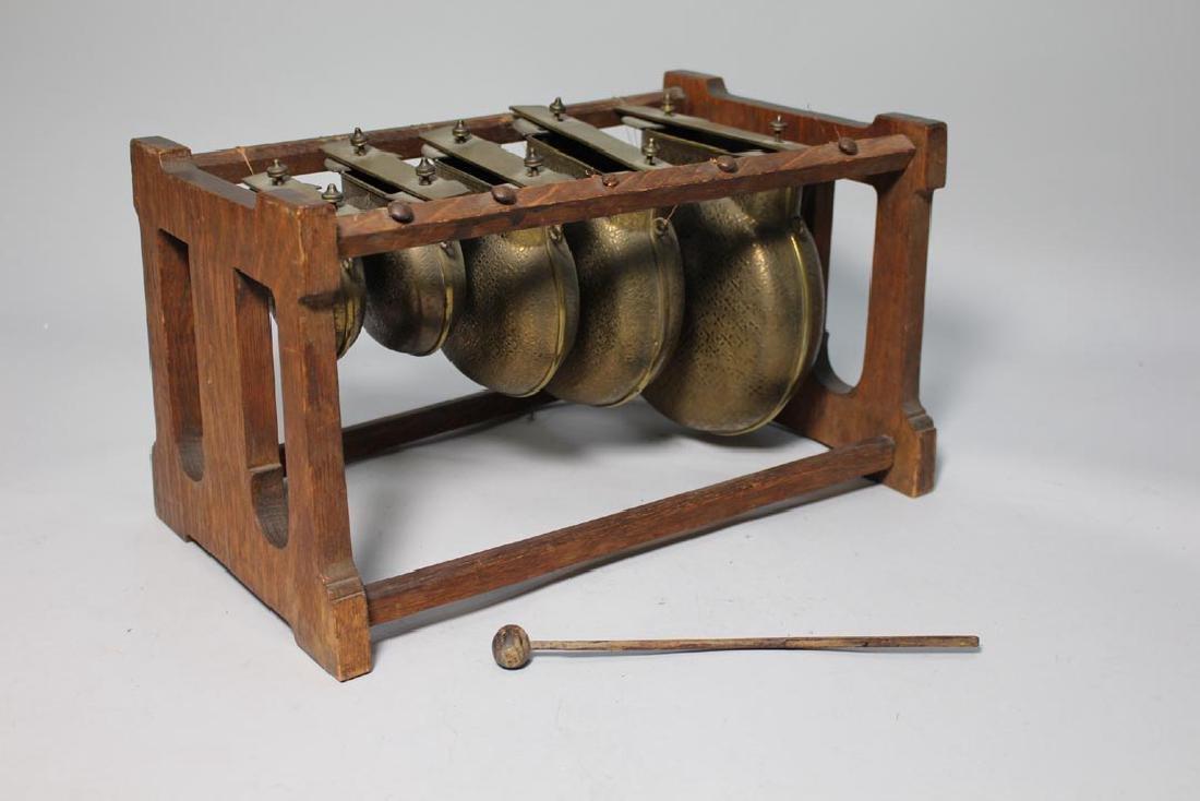 Oak Framed Brass Call Bells