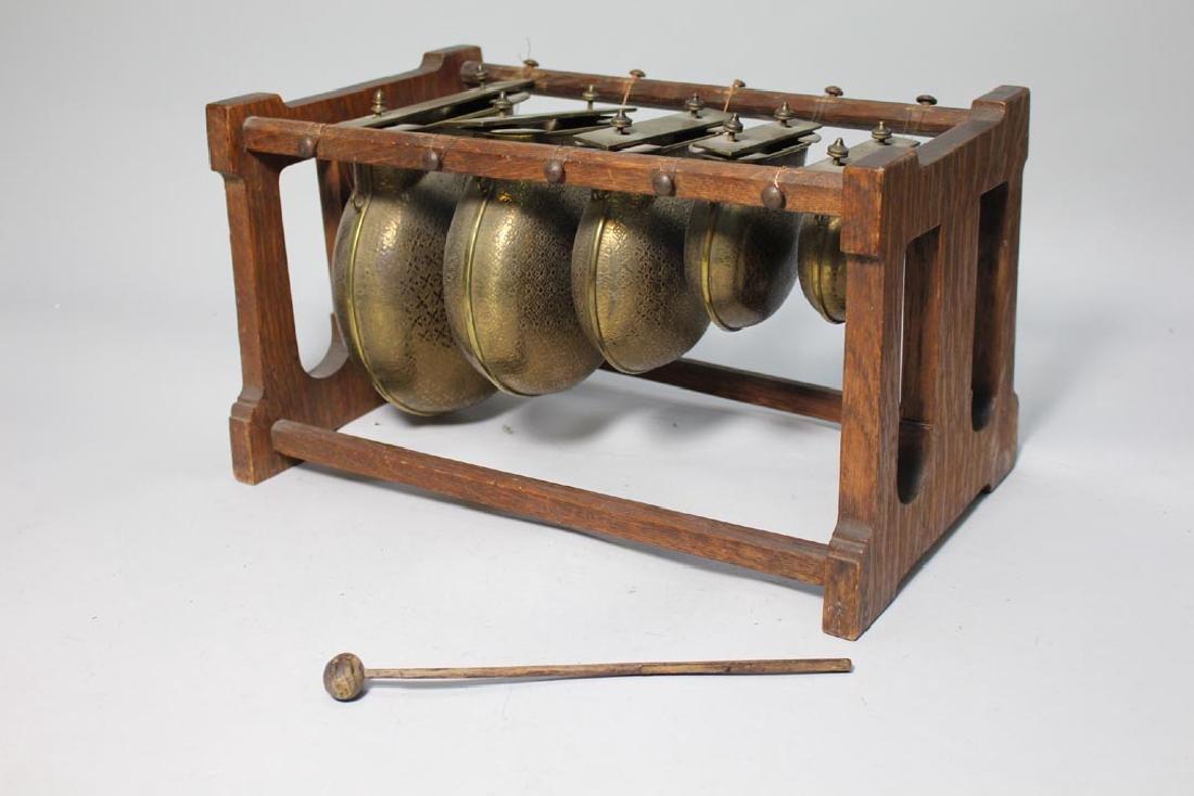 Oak Framed Brass Call Bells - 3