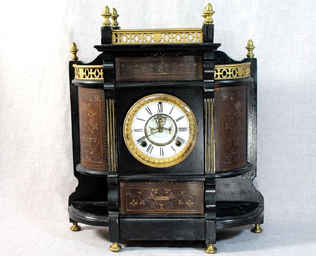 Ansonia Chippendale Shelf Clock