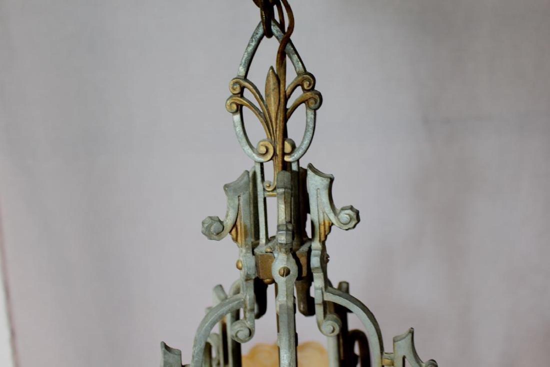 Original Art Deco Lincoln Chandelier - 3