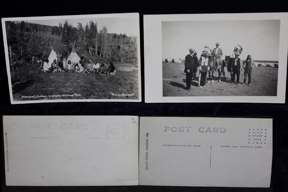 Nine Photograph Post Cards With Indians - 2