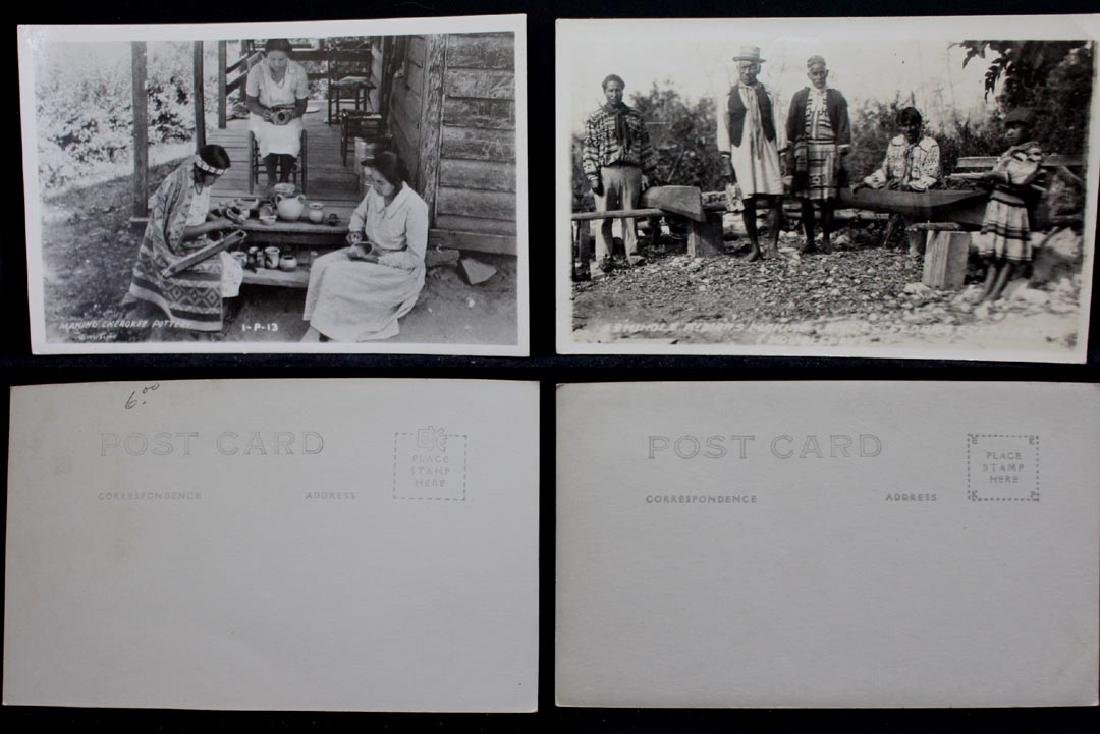 Nine Photograph Post Cards With Indians - 4
