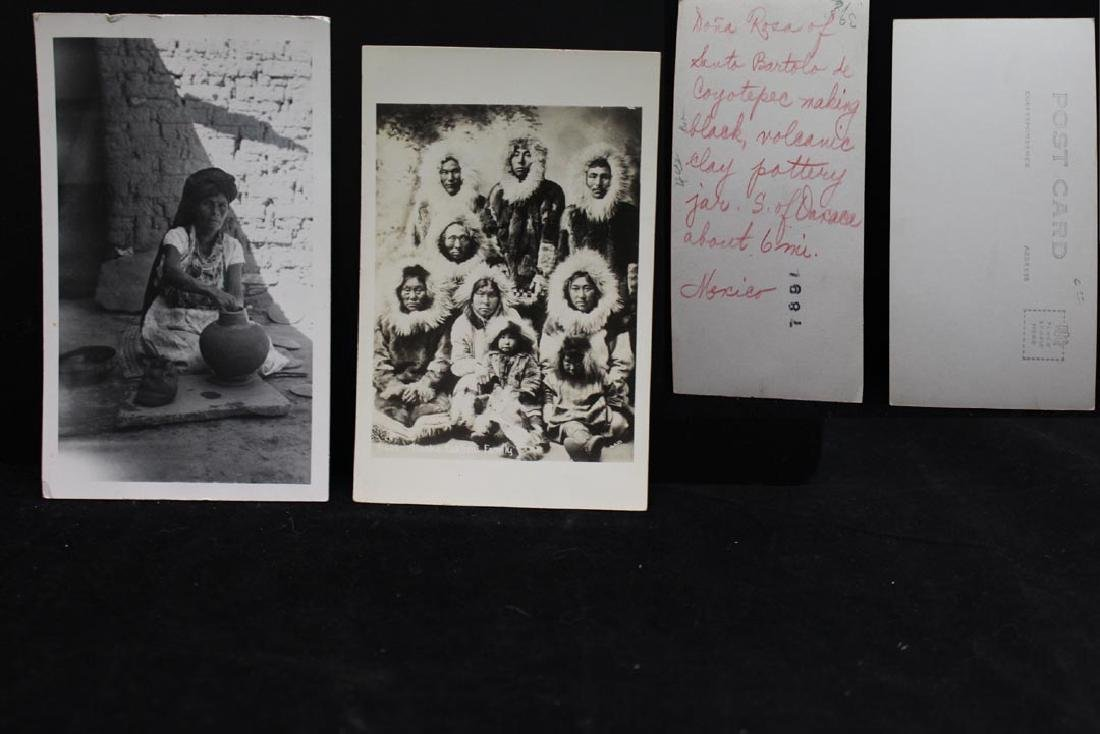 Nine Photograph Post Cards With Indians - 5