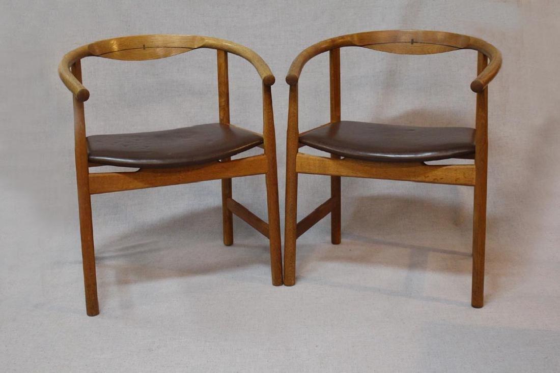 Hans Wegner (Danish 1914 - 2007) Oak Arm Chairs
