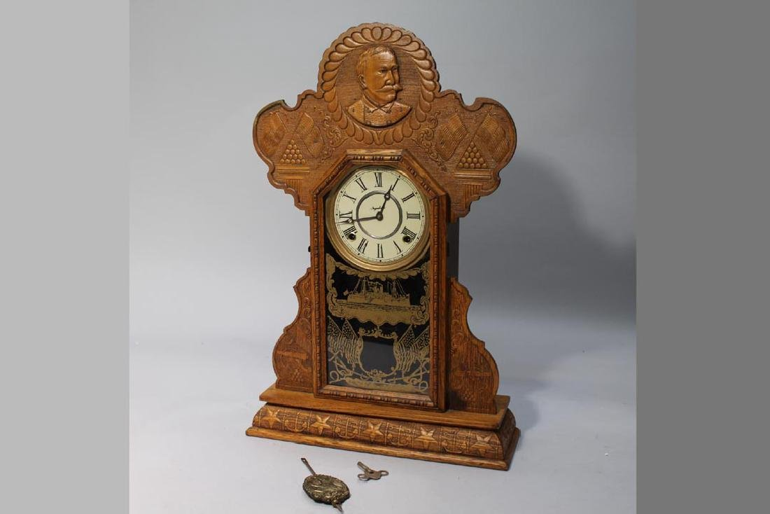 Ingraham Spanish American War Commemorative Clock