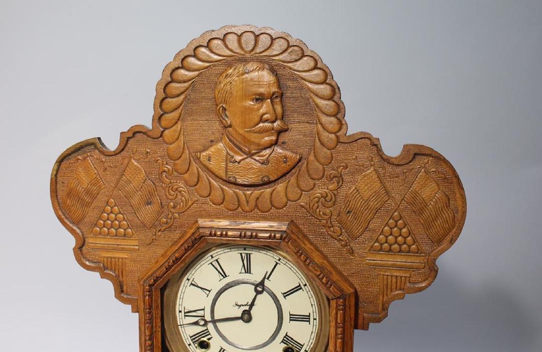 Ingraham Spanish American War Commemorative Clock - 2