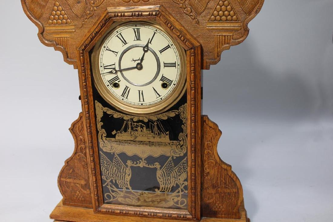 Ingraham Spanish American War Commemorative Clock - 3