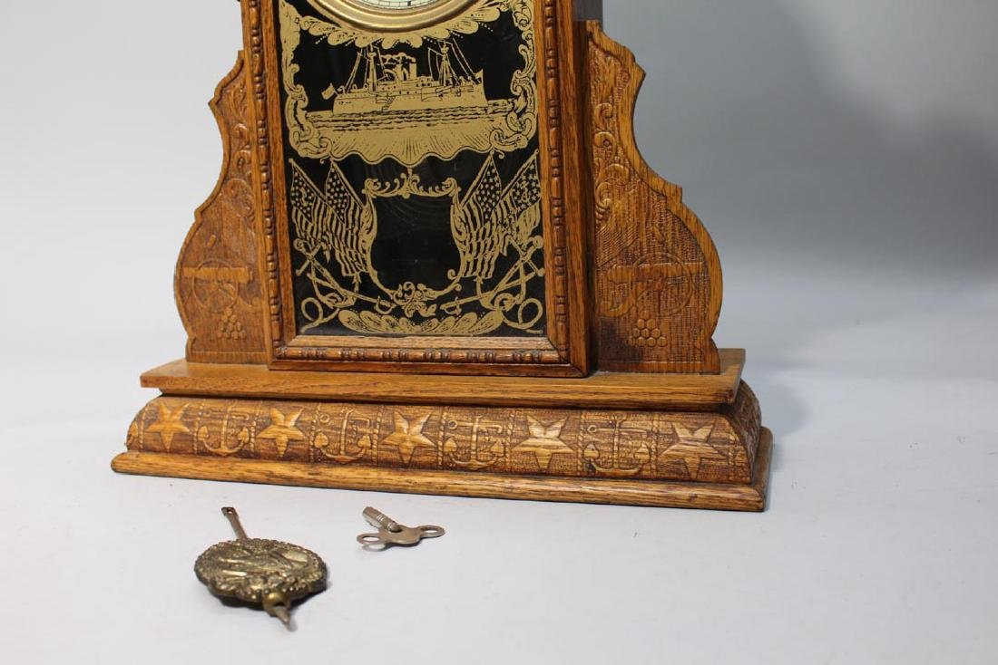 Ingraham Spanish American War Commemorative Clock - 4