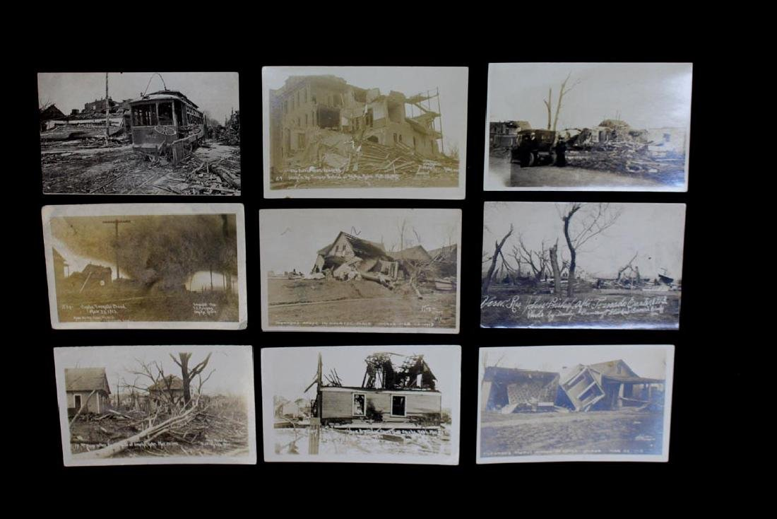 Nine 1913 Omaha Tornado Post Cards