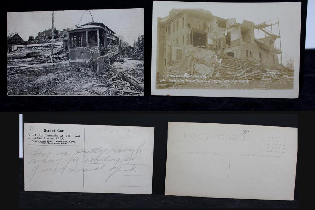 Nine 1913 Omaha Tornado Post Cards - 2