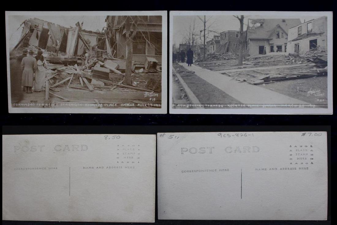 Ten 1913 Omaha Tornado Post Cards - 2