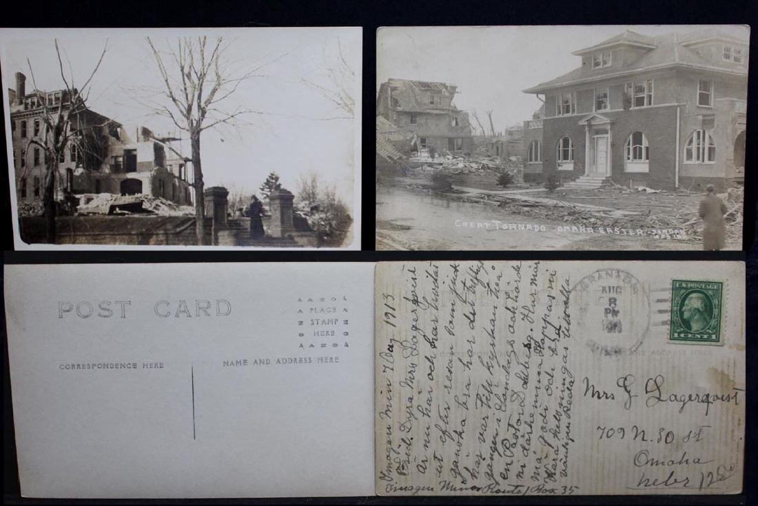 Ten 1913 Omaha Tornado Post Cards - 3