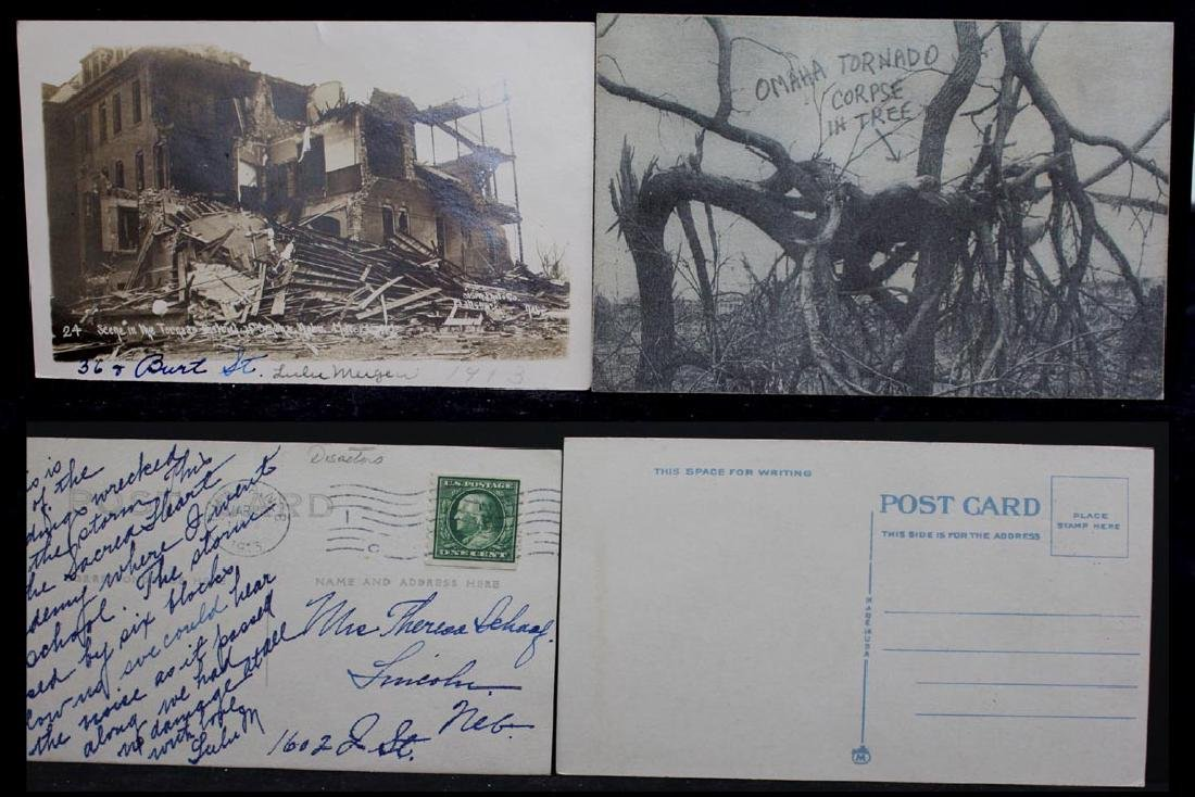 Ten 1913 Omaha Tornado Post Cards - 5