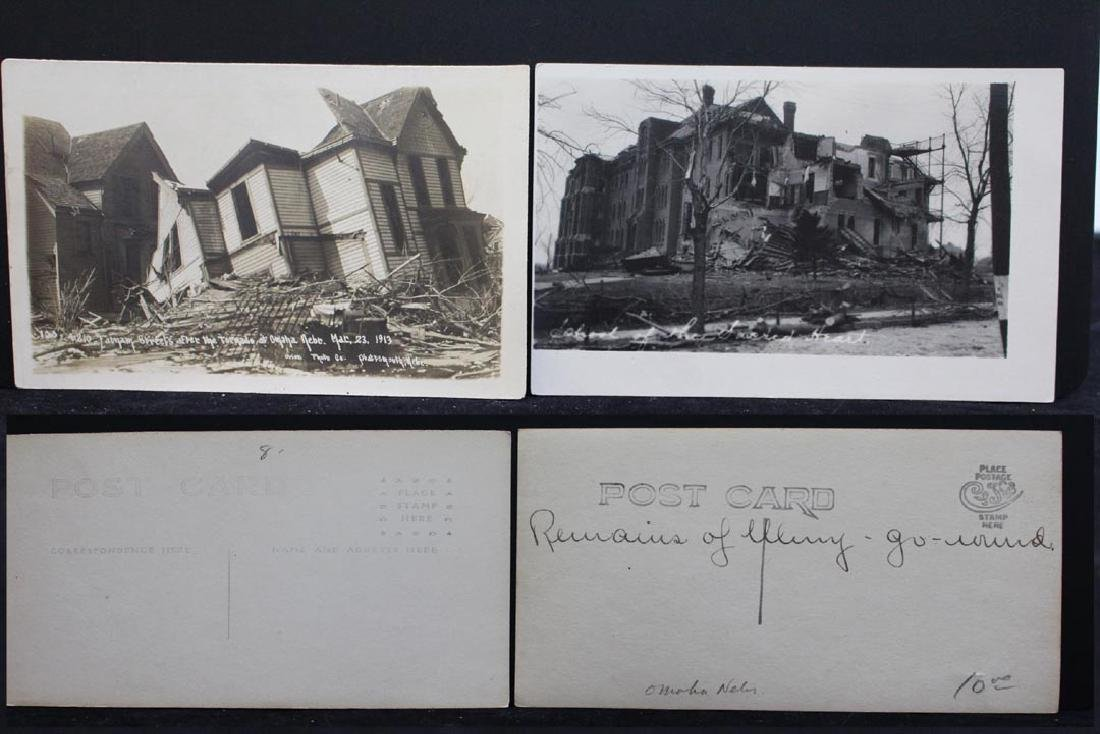 Ten 1913 Omaha Tornado Post Cards - 6