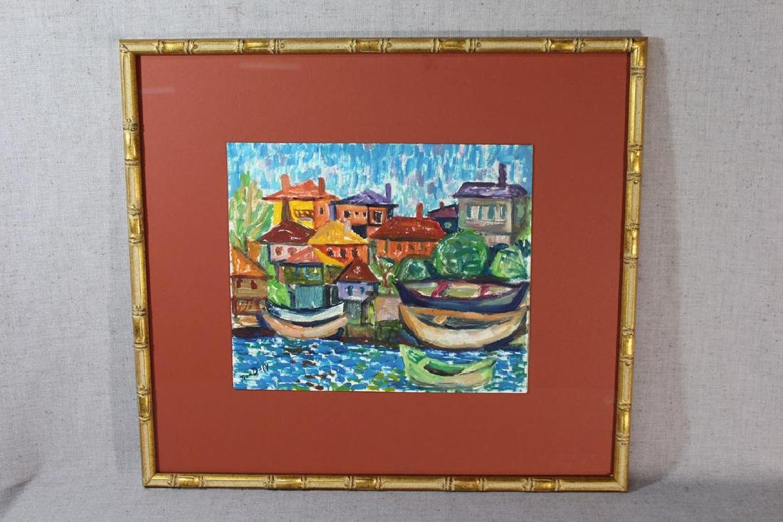 Oil On Panel Signed Jean Dufy