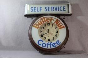 Butter-nut Coffee Advertising Clock