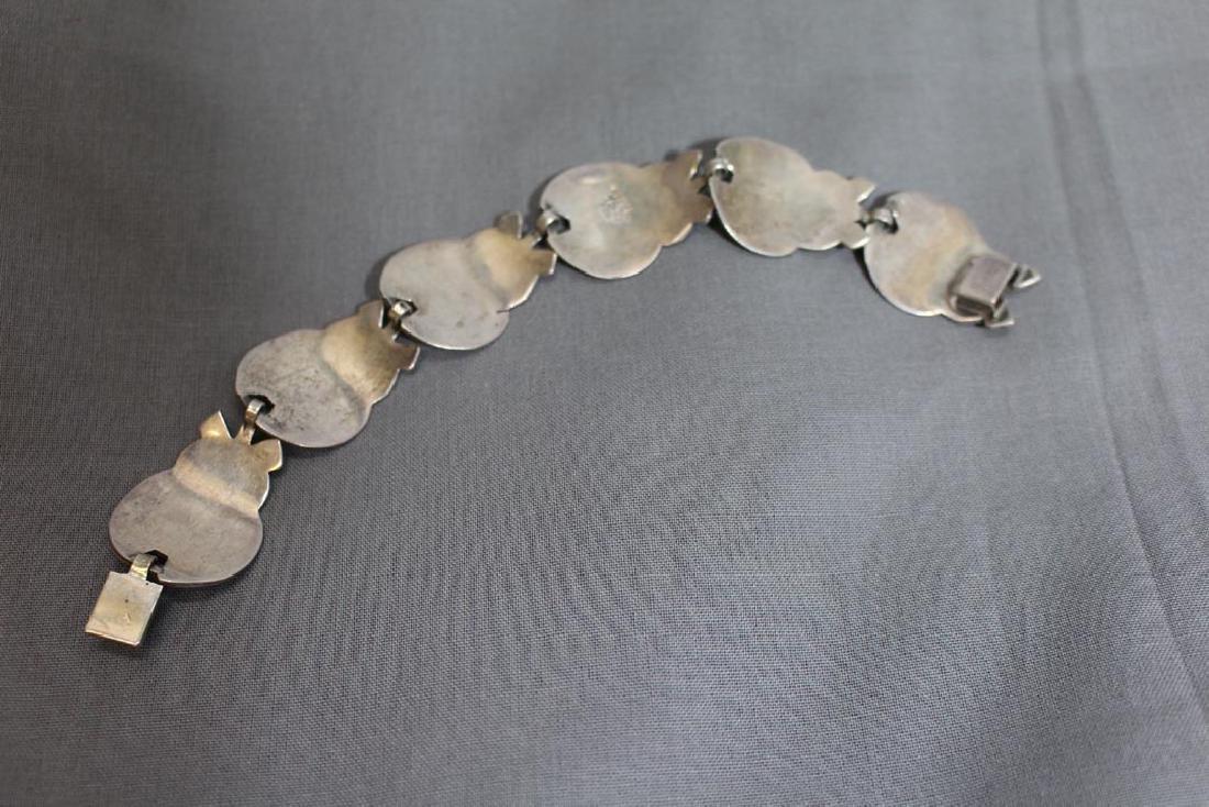 Mexican Sterling Art Deco Bracelet - 2