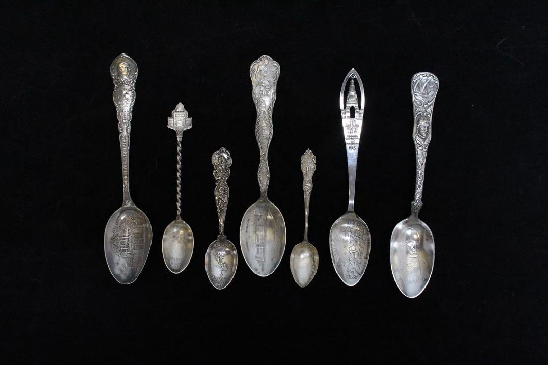 Group Of Seven Sterling Souvenir Spoons