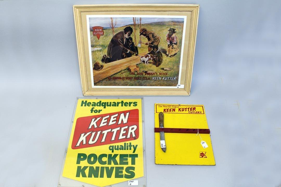 Three Keen Kutter Signs