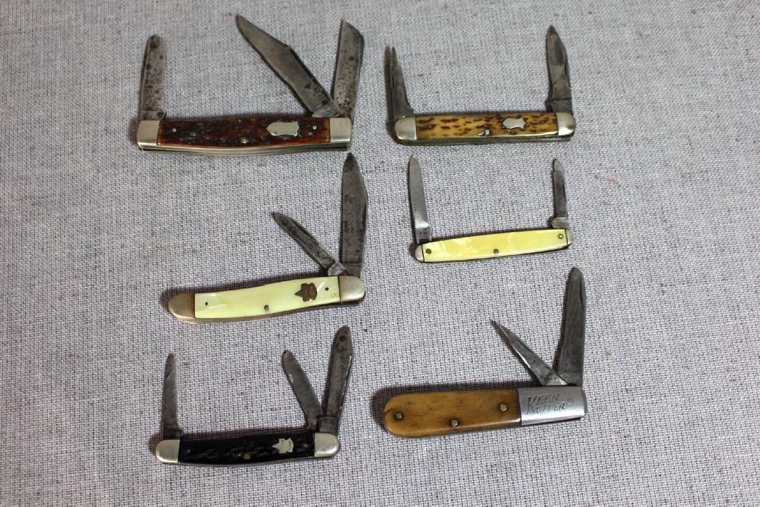 Six Keen Kutter Pocket Knives