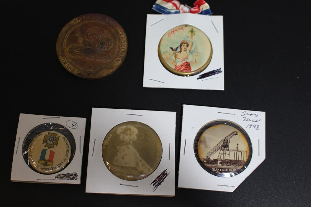 1898 - 1899 Trans-Mississippi Medallion And Pins