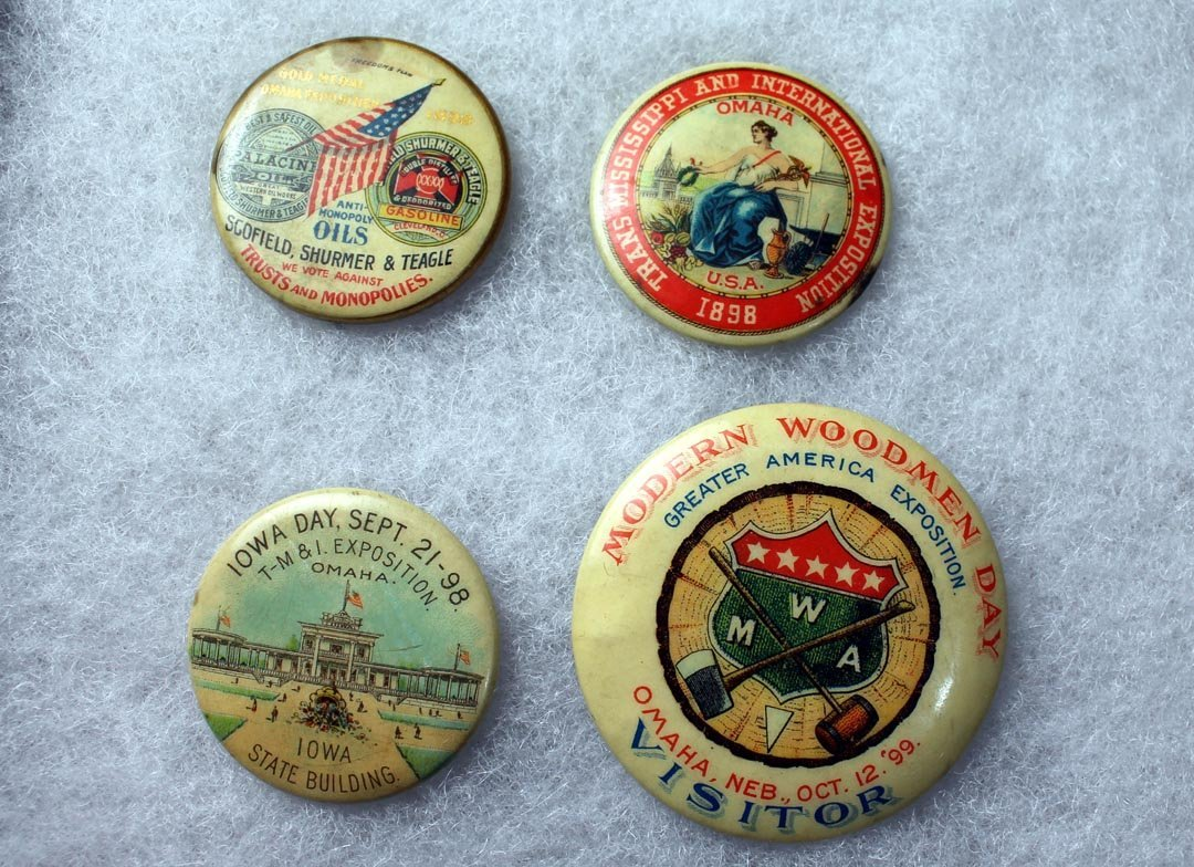 1898 - 1899 Trans-Mississippi Exposition Pins - 2