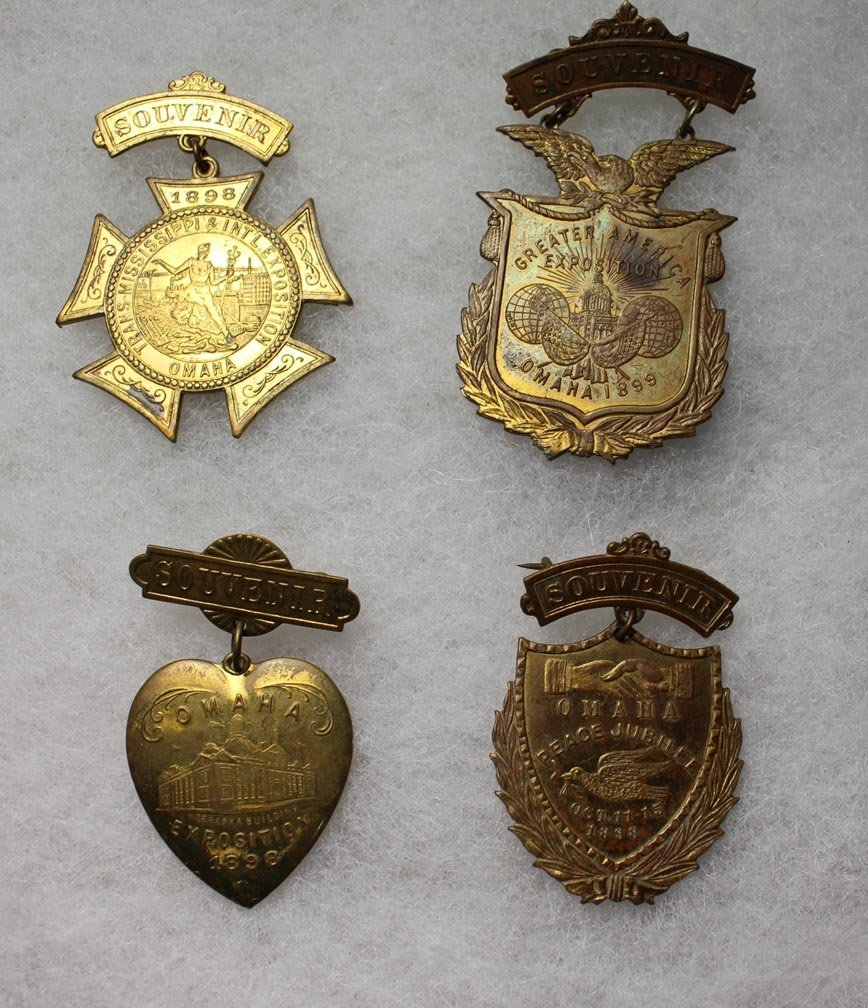 1898 - 1899 Trans-Mississippi Exposition Pins - 4