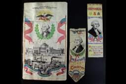 Three George Washington Silk Weavings