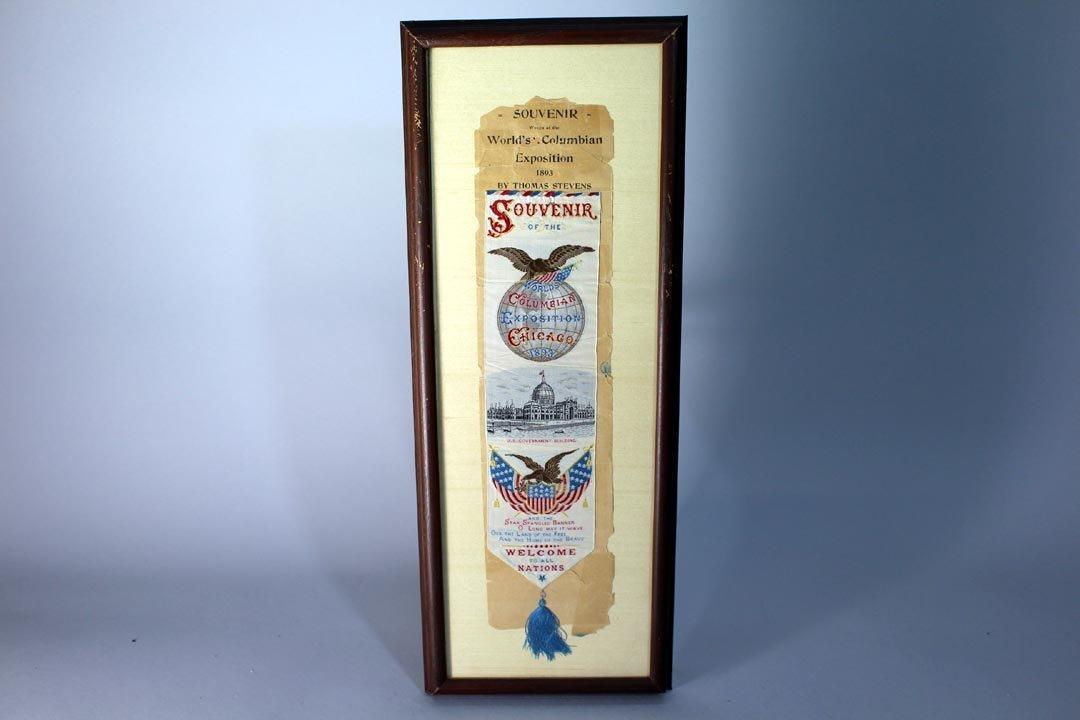 Stevensgraph  Columbian Exposition Souvenir