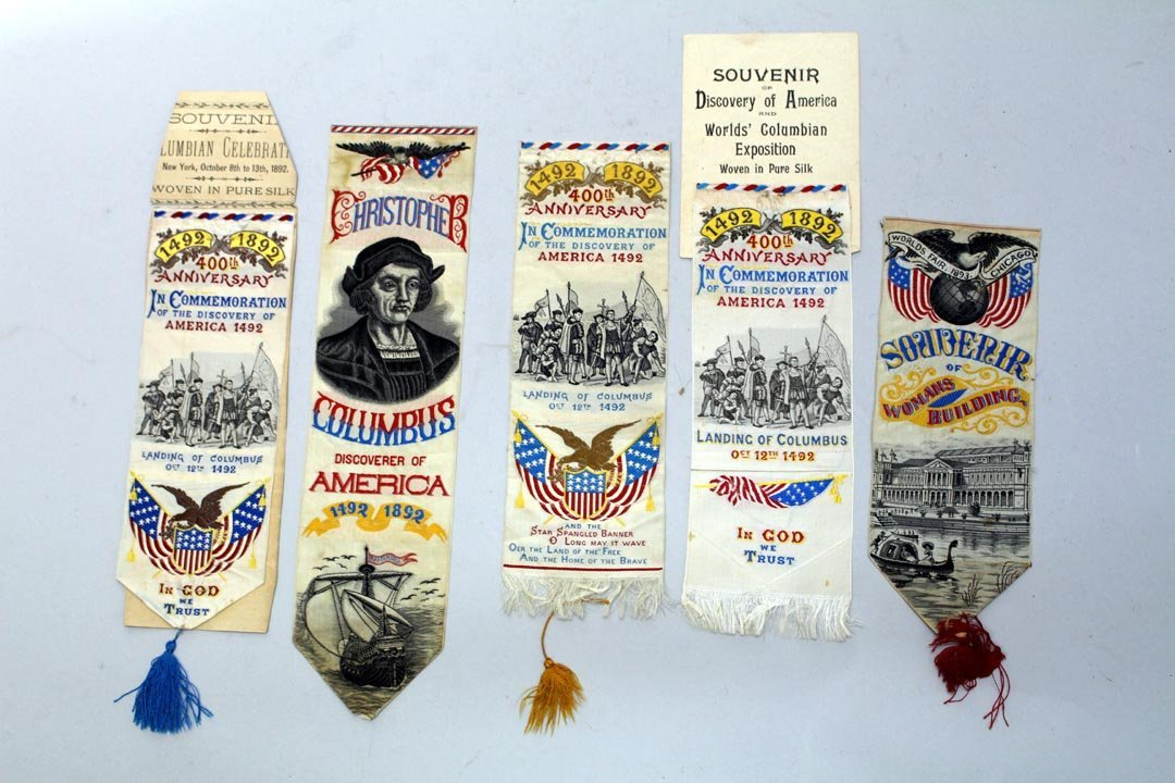 Group Of Columbian Exposition Silk Woven Ribbons